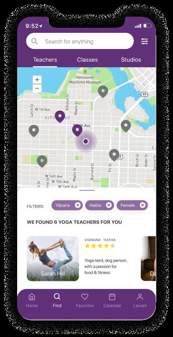 Find screen mat yoga app