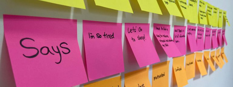 Jobs to be done sticky notes
