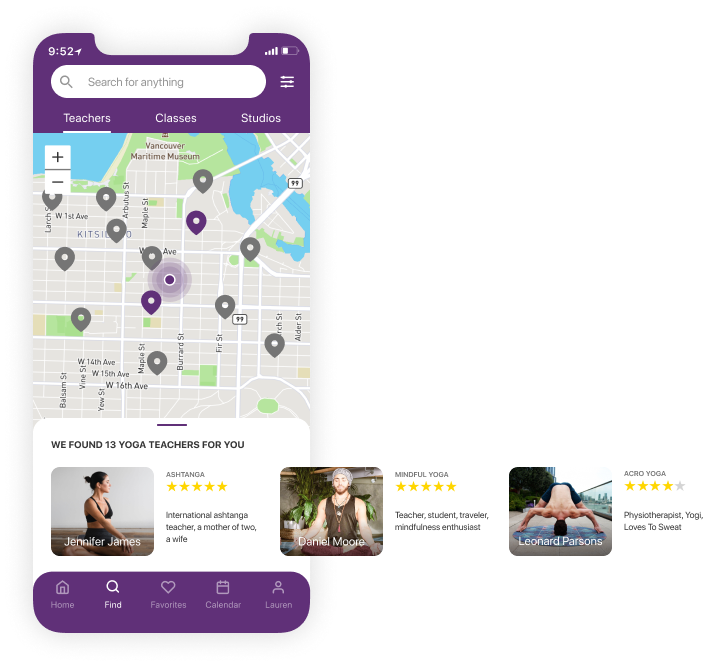 Mat find the yoga class for you screen