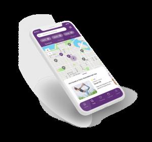 """Mat yoga app screen - Click to see """"Mat"""" project"""