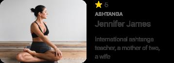 Jennifer James yoga teacher's card